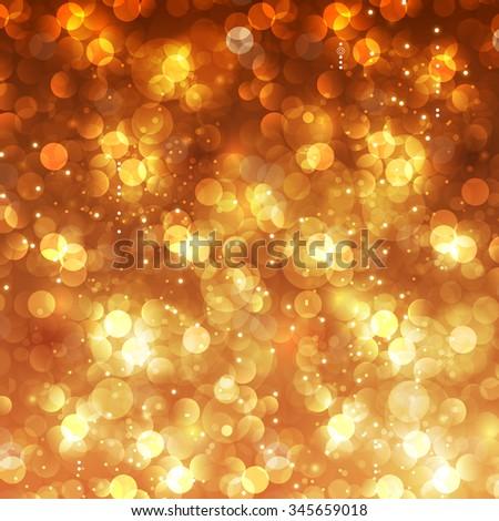 Festive Christmas bokeh background easy editable - stock vector