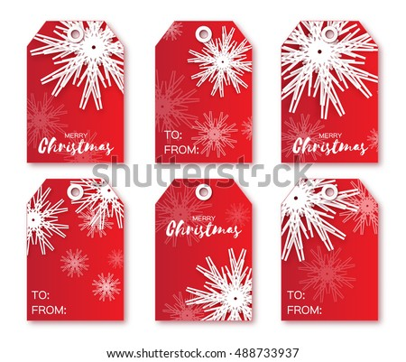 6 gift tags stock images royalty free images vectors shutterstock festive collection of red christmas labels ready to use gift tags xmas negle Images
