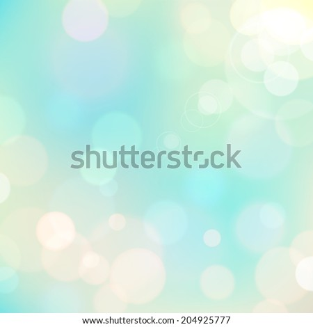 Festive colorful background of blue colors with bokeh defocused lights. Vector eps10.