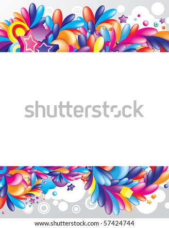 Festive design with huge space for your information - stock vector