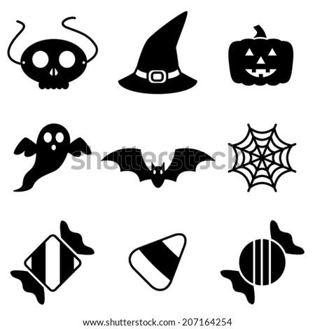 Festive Halloween Vector Icons - stock vector