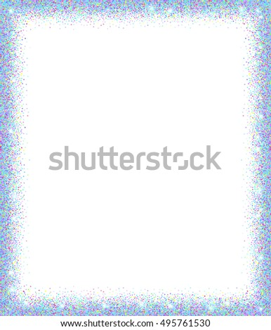 Festive Holographic Sparkle Frame Neon Glitter Stock Vector ...