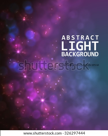 Festive light background with bokeh and blur, vector - stock vector