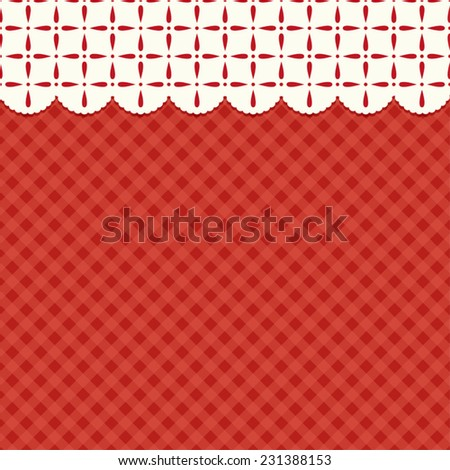 Festive retro Christmas abstract background in traditional colors