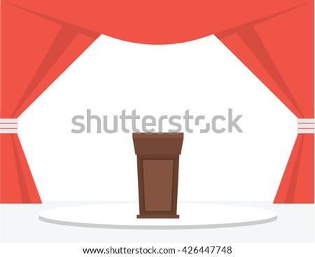 Festive Stage Podium. Vector illustration