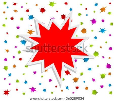 festive starburst splash abstract background - stock vector