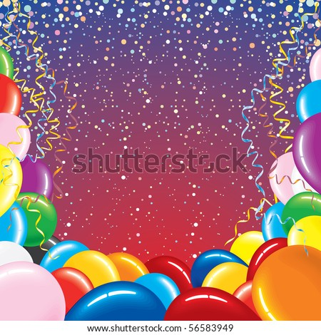 Festive vector background for your text -MORE BALLOONS SEE AT MY GALLERY - stock vector