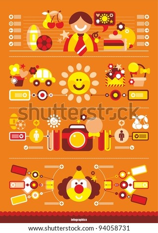 Festive Vector infographics - stock vector