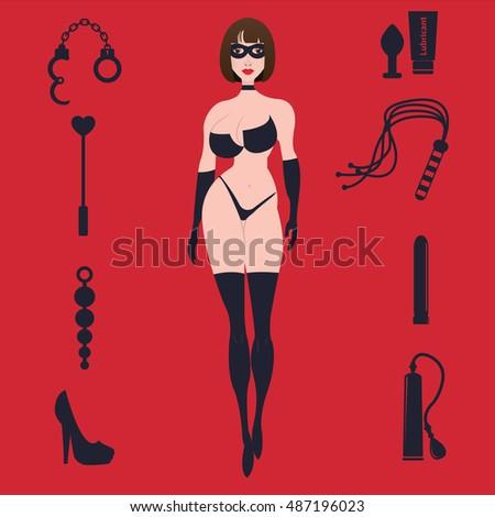 Girl With Whip Stock Vectors, Images & Vector Art | Shutterstock