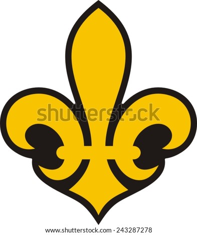 Feur de lis - patch - stock vector