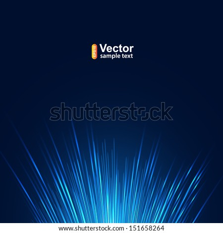 Fiber optic network, line technology - stock vector