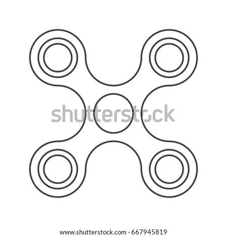 fidget spinner template black and white fidget spinner coloring