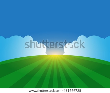 Field and sky. Background. Agricultural concept.