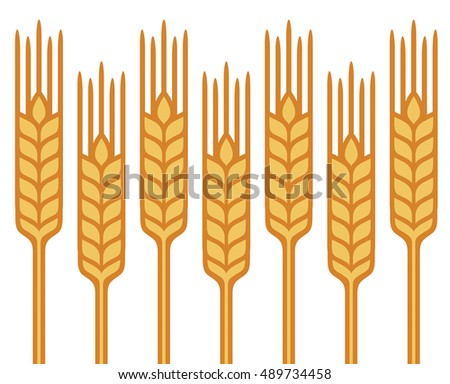 Field of Wheat, Barley or Rye vector visual graphic repeat pattern, vector visual graphic icons, fully adjustable and scalable.