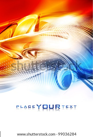 Fiery abstract background. Vector - stock vector