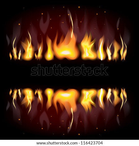 Fiery background with free space for your text - stock vector
