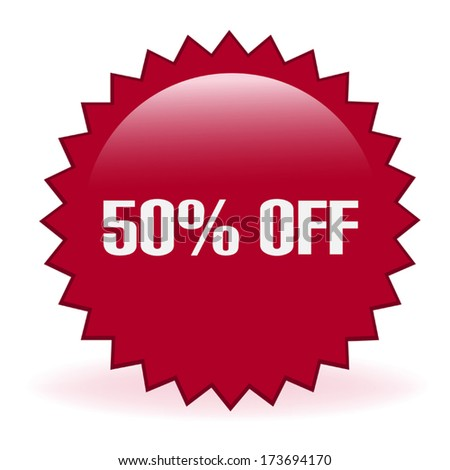 Fifty Percent Discount Sticker - stock vector