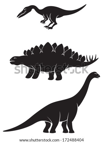 Figure depicts the dinosaurs - stock vector