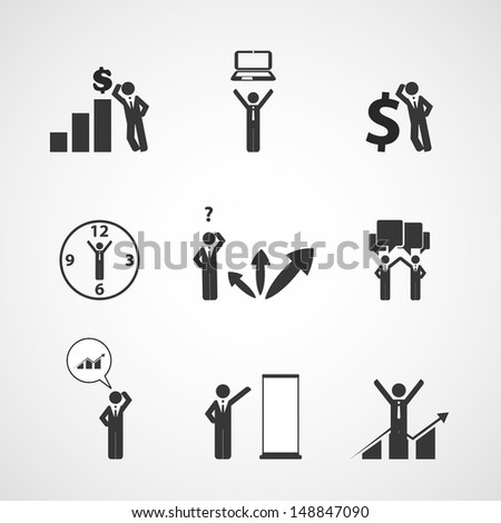 Figure, People Icons - Business Concept