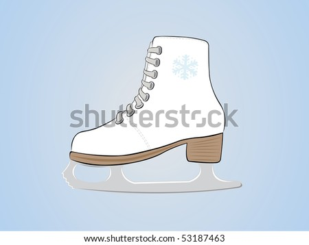 figure skating - stock vector