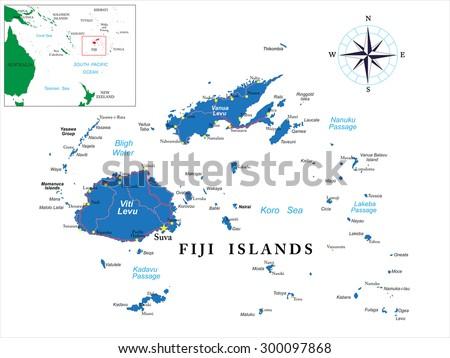 Fiji Map Stock Images RoyaltyFree Images Vectors Shutterstock - Fiji map