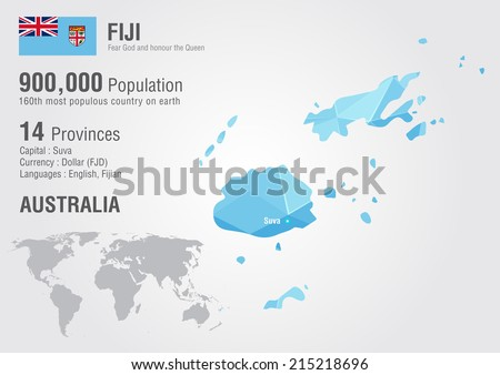 fiji world map with a pixel diamond texture world geography