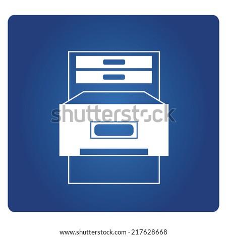 file cabinet - stock vector