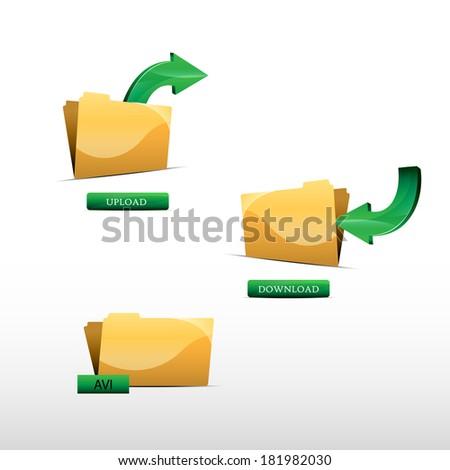 File download - stock vector
