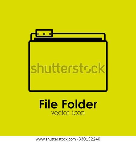 file folder design, vector illustration eps10 graphic  - stock vector