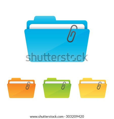 File Folder Icon - stock vector