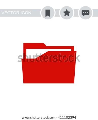 File folder Icon. - stock vector