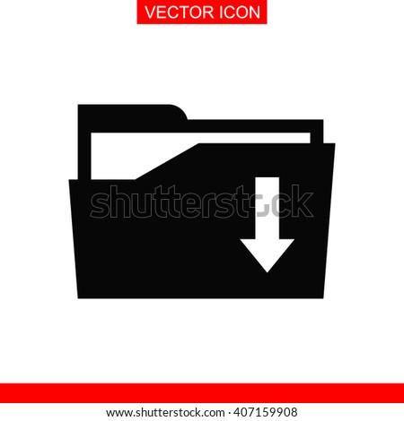 File folder Icon. File folder Vector. File folder Icon Button. File folder Picture. File folder Image. File folder Illustration. File folder JPEG. File folder Icon EPS. File folder Design. - stock vector