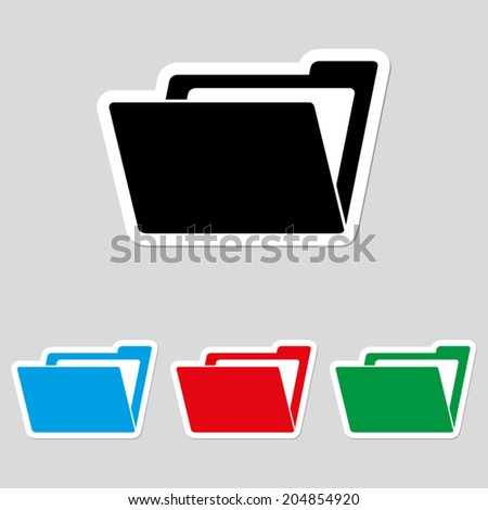 File Folder icon - vector - stock vector