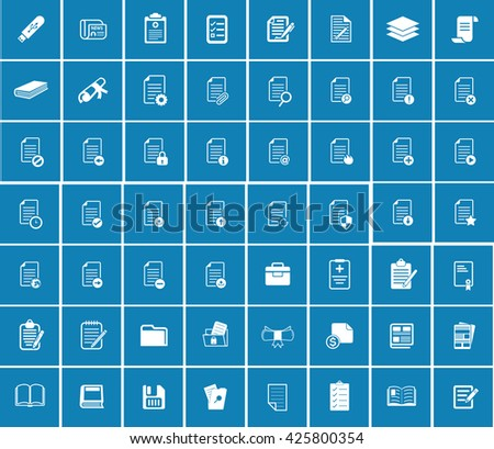 File folder icons - stock vector