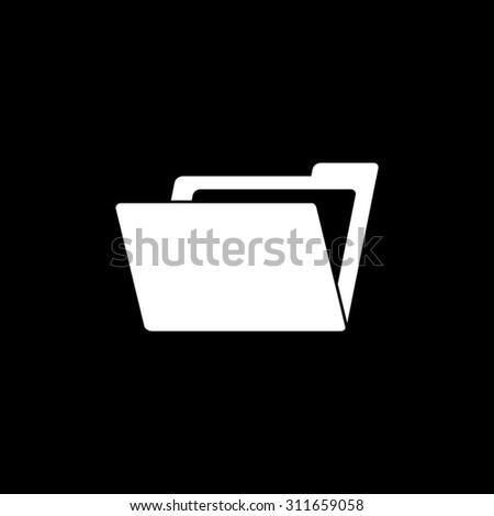 File Folder - vector icon - stock vector