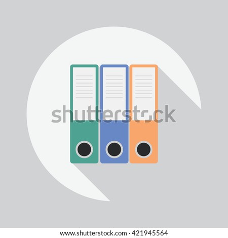 File folders icon isolated background. Vector illustration organizer for securities