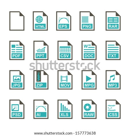 File Icon - Color - stock vector