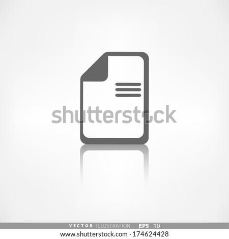 File icon. Data symbol. Document format - stock vector