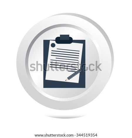 File, information button icon vector illustration - stock vector