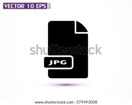 File JPG icon - stock vector