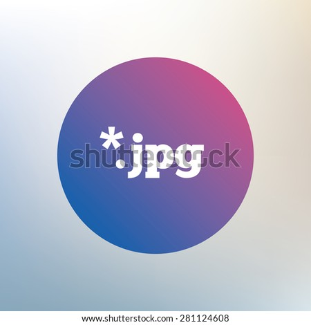 File JPG sign icon. Download image file symbol. Icon on blurred background. Vector - stock vector