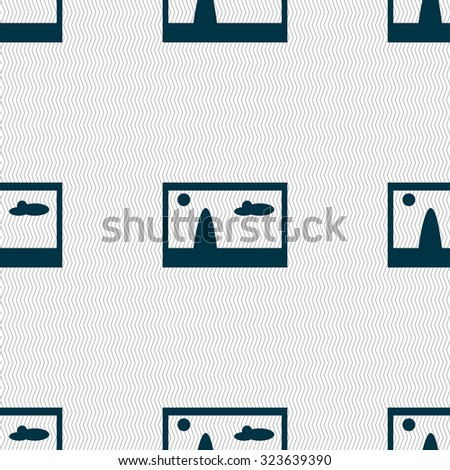File JPG sign icon. Download image file symbol. Seamless abstract background with geometric shapes. Vector illustration - stock vector