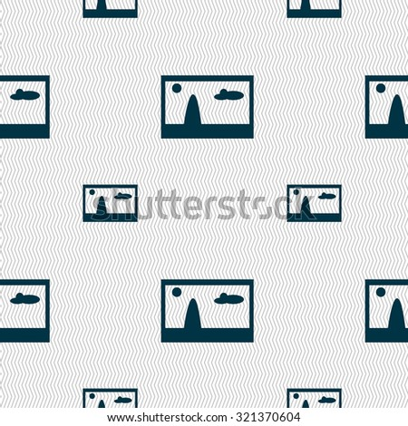 File JPG sign icon. Download image file symbol. Seamless pattern with geometric texture. Vector illustration - stock vector