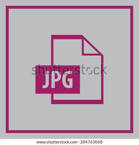 File JPG vector icon  - stock vector
