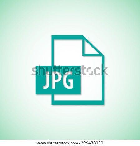 File JPG vector icon  - stock vector