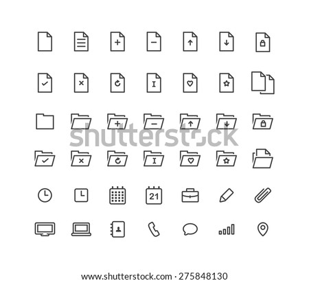File Line Icons - stock vector