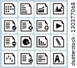 file management and administration icons set - stock photo