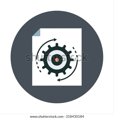 File management, processing flat style colorful, vector icon for info graphics, websites, mobile and print media. - stock vector