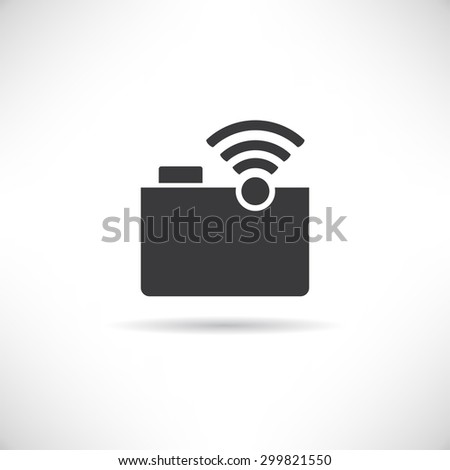 file sharing - stock vector