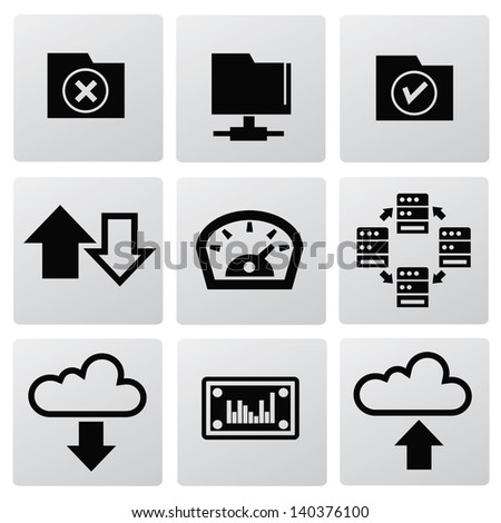 File sharing icons,vector - stock vector
